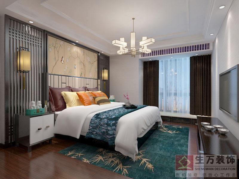 修改前的主人房www.bobvip.com设计,利用飘窗顶部的空调安装中央空调,木地板的颜色过于深,需要调整好木地板的颜色。